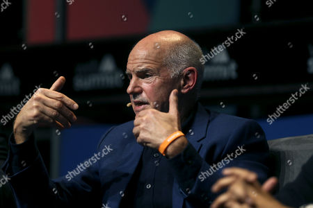 Former Greek Prime Minister George Papandreou Speaks During the Third Day of the Web Summit in Lisbon Portugal 09 November 2016 the Web Summit Runs From 07 Until 10 November 2016 Portugal Lisbon