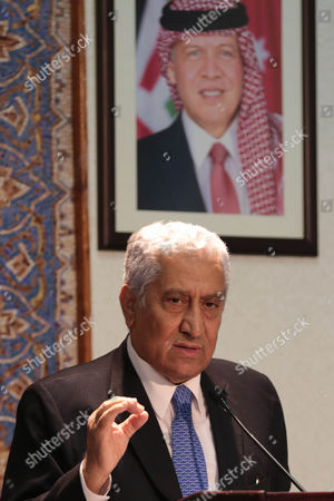 Jordanian Prime Minister Abdullah Ensour Speaks During a Joint Press Conference with His Lebanese Counterpart Tamam Salam (not Pictured) in Amman Jordan 12 August 2015 Ensour and Salam Discussed the Latest Developments in the Middle East Especially the Impact of the Syrian Crisis on the Two Countries Jordan Amman
