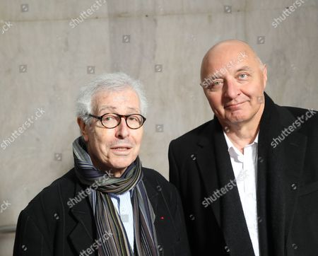 Editorial image of Didier Grumbach and Pascal Morand out and about, Paris, France - 02 Mar 2017