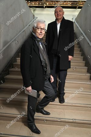 Editorial picture of Didier Grumbach and Pascal Morand out and about, Paris, France - 02 Mar 2017