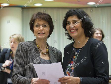 Myriam El Khomri and Marianne Thyssen