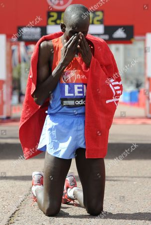Stock Picture of Kenya's Martin Lel Arrives in Second Place During the Men's Section of the London Marathon in London Britain on 22 April 2012 Organisers Say Just Over 37 500 Entrants Have Registered For the Race United Kingdom London