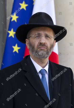 The Great Rabbi of France Gilles Bernheim Speaks to Media After Meeting with French President Nicolas Sarkozy (not Pictured) at the Elysee Palace France 21 March 2012 a Police Raid is Currently Being Carried out in a House to Arrest a Suspect who Allegedly Killed Children and a Rabbi on 19 March 2012 at 'Ozar Hatorah' Jewish School in Toulouse France 21 March 2012 Media Reports State That at Lease Two Police Officers Were Injured in the Raid France Paris