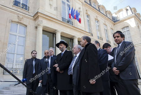 Editorial image of France Shooting Elysee Jewish Muslim Representatives - Mar 2012