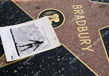 A Flyer For the Film 'The Illustrated Man' Film Adorns the Star of Us Writer Ray Bradbury on the Hollywood Walk of Fame in Hollywood California Usa 06 June 2012 Bradbury Died on 05 June at the Age of 91 United States Hollywood