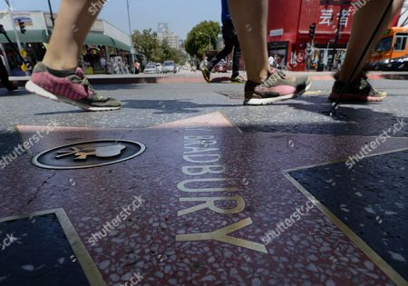 Pedestrians on Hollywood Boulevard Pass the Star of Us Writer Ray Bradbury on the Hollywood Walk of Fame in Hollywood California Usa 06 June 2012 Bradbury Died Last Night at the Age of 91 United States Hollywood