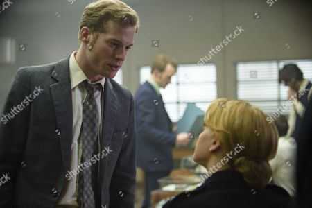 Episode 3 - Sam Reid as DCI Len Bradfield and Stefanie Martini as Jane Tennison.