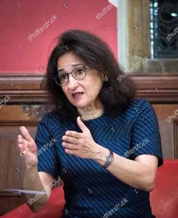 Editorial image of Dame Minouche Shafik at the Oxford Union, UK - 22 Feb 2017