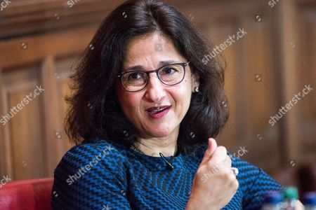 Editorial picture of Dame Minouche Shafik at the Oxford Union, UK - 22 Feb 2017