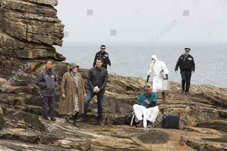 Brenda Blethyn as DCI Vera Stanhope, Suzanne Packer as Sophia Ashbrook, Kenny Doughty as DS Aiden Healy and Christopher Colquhoun as Dr Anthony Carmichael.
