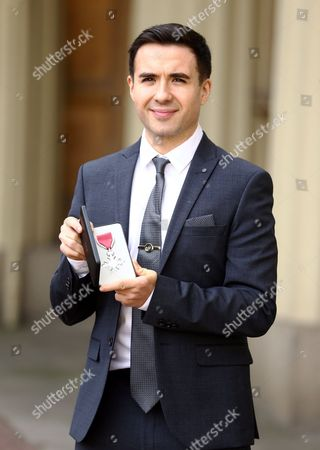 William Bayley MBE at an Investiture Ceremony at Buckingham Palace in London