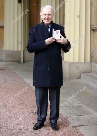 Actor Tim Pigott-Smith received an OBE for services to drama at an Investiture Ceremony at Buckingham Palace in London