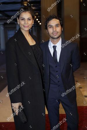 British Indian actor Kunal Nayyar, right and his wife Indian model Neha Kapur