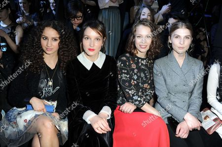 Oulaya Amamra, Anais Demoustier, Paula Beer, Clemence Poesy in the front row