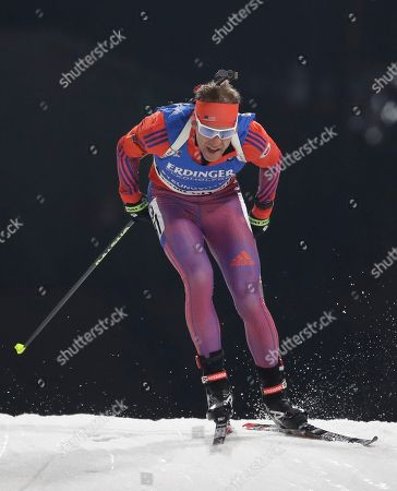 United States Lowell Bailey competes during the men's 10 km sprint competition for the Biathlon World Cup at the Alpensia Biathlon Centre in Pyeongchang, South Korea