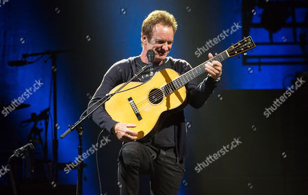 Sting performs an acoustic set before his opening act Joe Sumner hits the stage