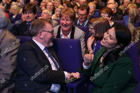 Rt Hon David Mundell MP, Secretary of State for Scotland, Annabel Goldie, and Rt Hon Priti Patel MP, Secretary of State for International Development