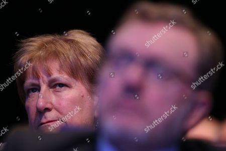 Stock Image of Annabel Goldie sitting behind Rt Hon David Mundell MP, Secretary of State for Scotland