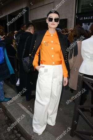 Editorial photo of Alexis Mabille show, Arrivals, Autumn Winter 2017, Paris Fashion Week, France - 02 Mar 2017