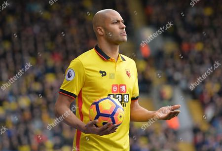 Younes Kaboul of Watford during the Premier League match between Watford and Southampton played at Vicarage Road, Watford on 4th March 2017