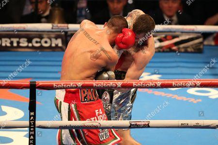 Sam Eggington knocks out Paulie Malignaggi       at The O2 Arena , Peninsula Square  , London  on 4th March  2017