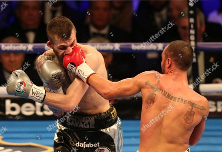 Sam Eggington competes with Paulie Malignaggi    with   at The O2 Arena , Peninsula Square  , London  on 4th March  2017