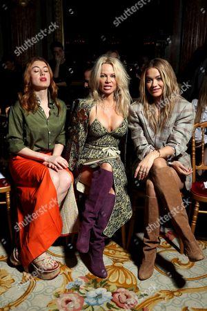 Caroline Tillette, Pamela Anderson and Rita Ora in the Front Row