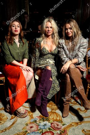 Stock Picture of Caroline Tillette, Pamela Anderson and Rita Ora in the Front Row
