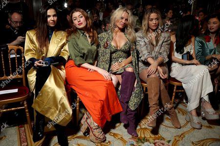 Doina Ciobanu, Caroline Tillette, Pamela Anderson and Rita Ora in the Front Row