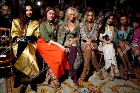 Stock Photo of Doina Ciobanu, Caroline Tillette, Pamela Anderson and Rita Ora in the Front Row