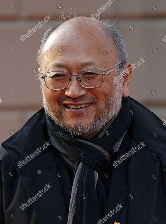 Japanese acoustician Yasuhisa Toyota arrives at the red carpet for the opening of the new Pierre Boulez concert hall in the Barenboim Said Academy in Berlin, Germany, 04 March 2017. It is a 620 seat concert hall and the centre piece of the new Berlin music school opened last year by Argentinian pianist and conductor Daniel Barenboim and late Palestine-born literary theorist Edward Said. The school trains music students from Europe, Israel and the Middle East.
