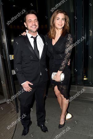 Gemma Atkinson and fellow Key 103 DJ Mike Toolan