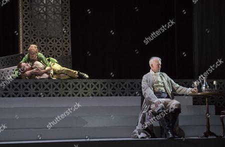 Laura Mitchell as Tosca, Alexander James Edwards as Cavaradossi, Craig Smith as Scarpia