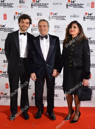 Enrico Montesano son Michael and wife