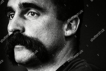 Stock Photo of The Australian Pace Bowler Mervyn Hughes Uk