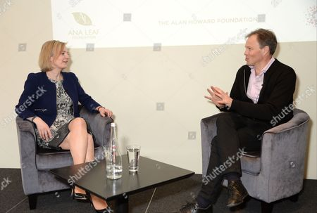 Liz Truss and Tom Bradby