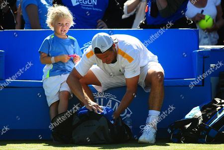 Cruz Hewitt Son of Lleyton Takes It All in His Stride After His Father's Win Against Juan Martin Del Potro United Kingdom London