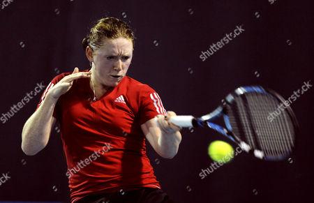 Naomi Cavaday Hits A Forehand United Kingdom Barnstaple
