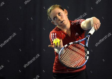 Naomi Cavaday Throws Up A Ball to Serve United Kingdom Barnstaple