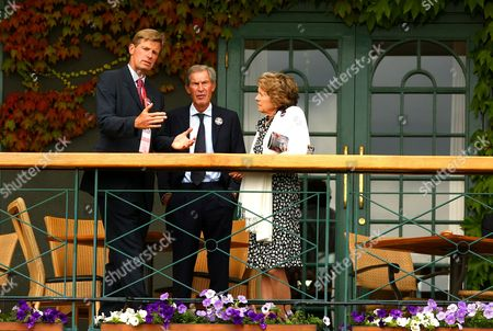 Tim Henman's Parents Chat to Peter Fleming at Wimbledon 2011 United Kingdom London