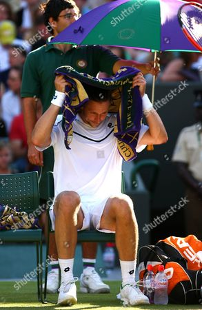 Robin Soderling of Sweden in Action at Wimbledon 2011 United Kingdom London