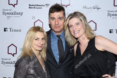Marisa Acocella Marchetto, author, Euan Rellie, co-founder and Senior Managing Director of BDA and wife Lucy Sykes