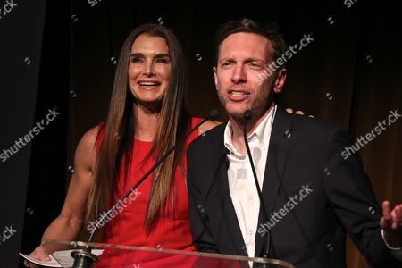 Brooke Shields and Michael Friedman, composer and lyricist
