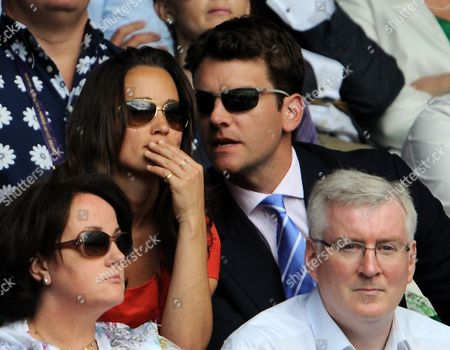 Catherine Duchess of Cambridge's Sister Pippa Middleton On Centre Court Today with George Percy United Kingdom London