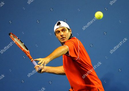 Sebastien Grosjean of France in Action at the Australian Open 2010 Melbourne Australia Australia Melbourne