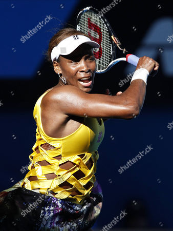 Usa's Venus Williams in Action During Her Second Round Victory Over the Czech Republic's Sandra Zahlavova Australia Melbourne