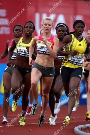 Jemma Simpson of Great Britain Races to Win the Women's 800m at the Aviva London Grand Prix United Kingdom London