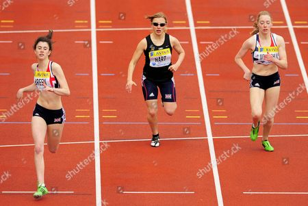 Olivia Breen (gbr) Left Finishes First in the Women's T37 200m Race with A Time of 29 56 United Kingdom London