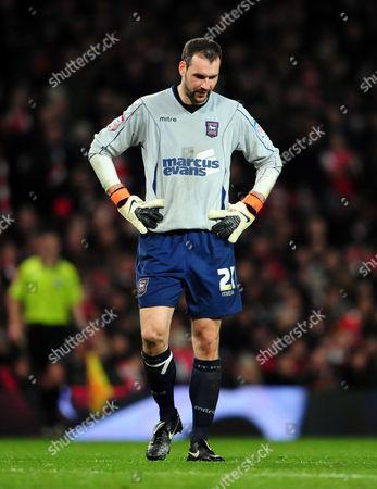 Goalkeeper Marton Fulop of Ipswich Town Looks Dejected United Kingdom London