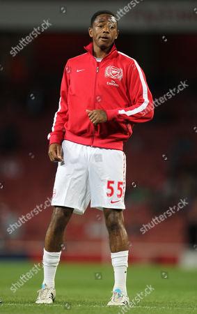 Sanchez Watt of Arsenal United Kingdom London
